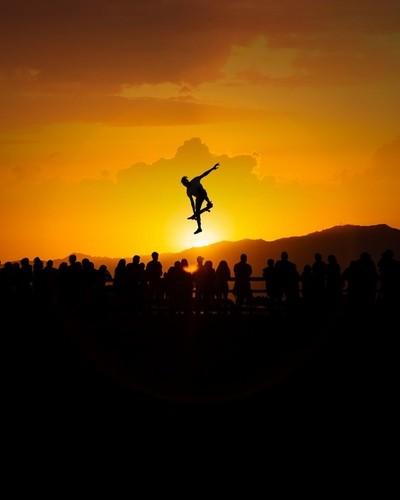 A Venice Skater Photoshopped into the Sunset