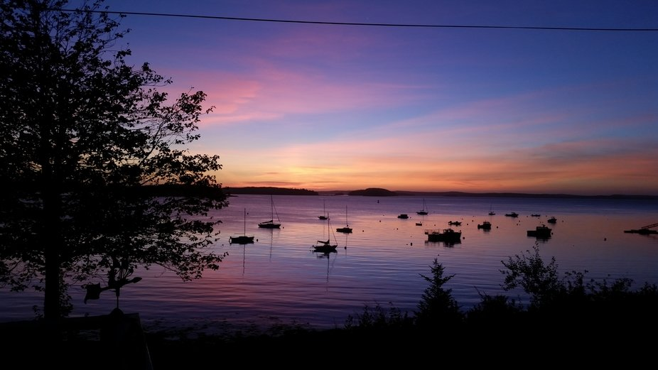 Taken from the deck at the famity cottage on Frenchman's Bay in Maine