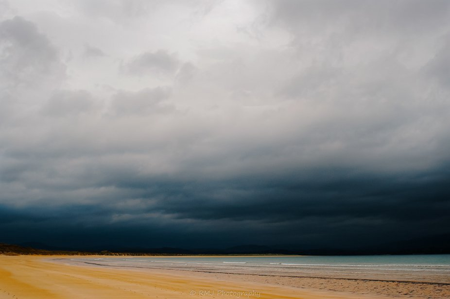 Downings beach before the storm