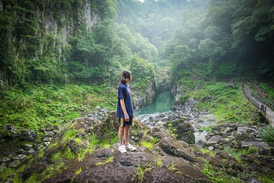 My son Kai. Taken in Takachiho gorge while on a ten day road trip. We traveled to Kobe where we c...