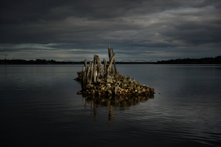The remainings of an old harbour outside Luleå, northern Sweden.