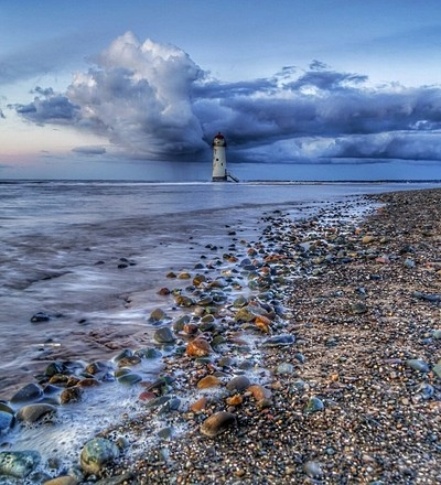 Storm clouds over the lighthouse