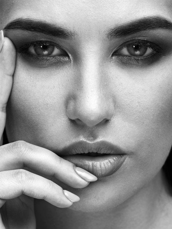 Portrait of Tanya by michelebalistreri - Our World In Black And White Photo Contest