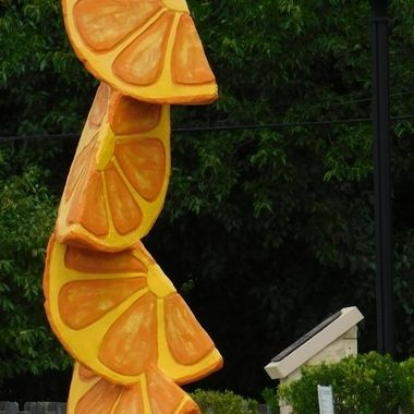 Created by Craig Gray Made of Stucco, Fiberglass and Steel Sculptures on  Display around my town