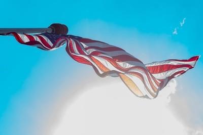 20180805-US Flag backlit at Annapolis Naval Academy