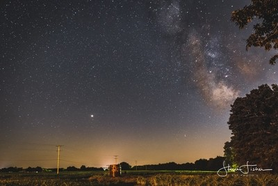 Mars and a Milky Way