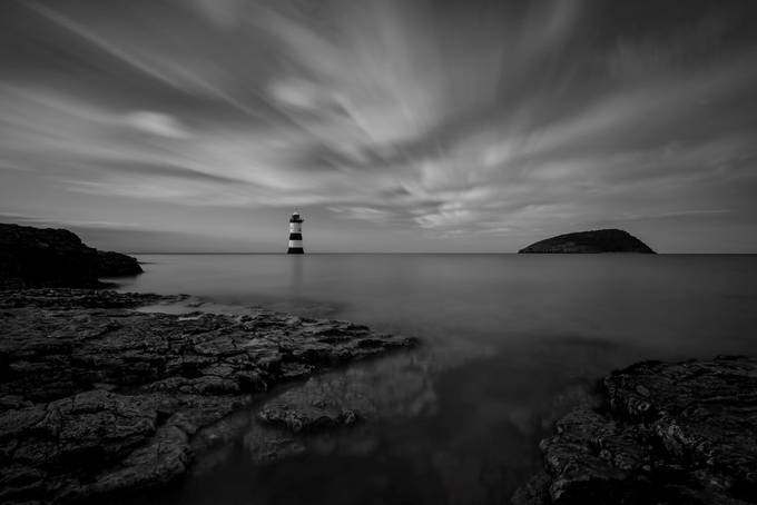 Penmon point Anglesey long exposure  by jasoncervi - Our World In Black And White Photo Contest