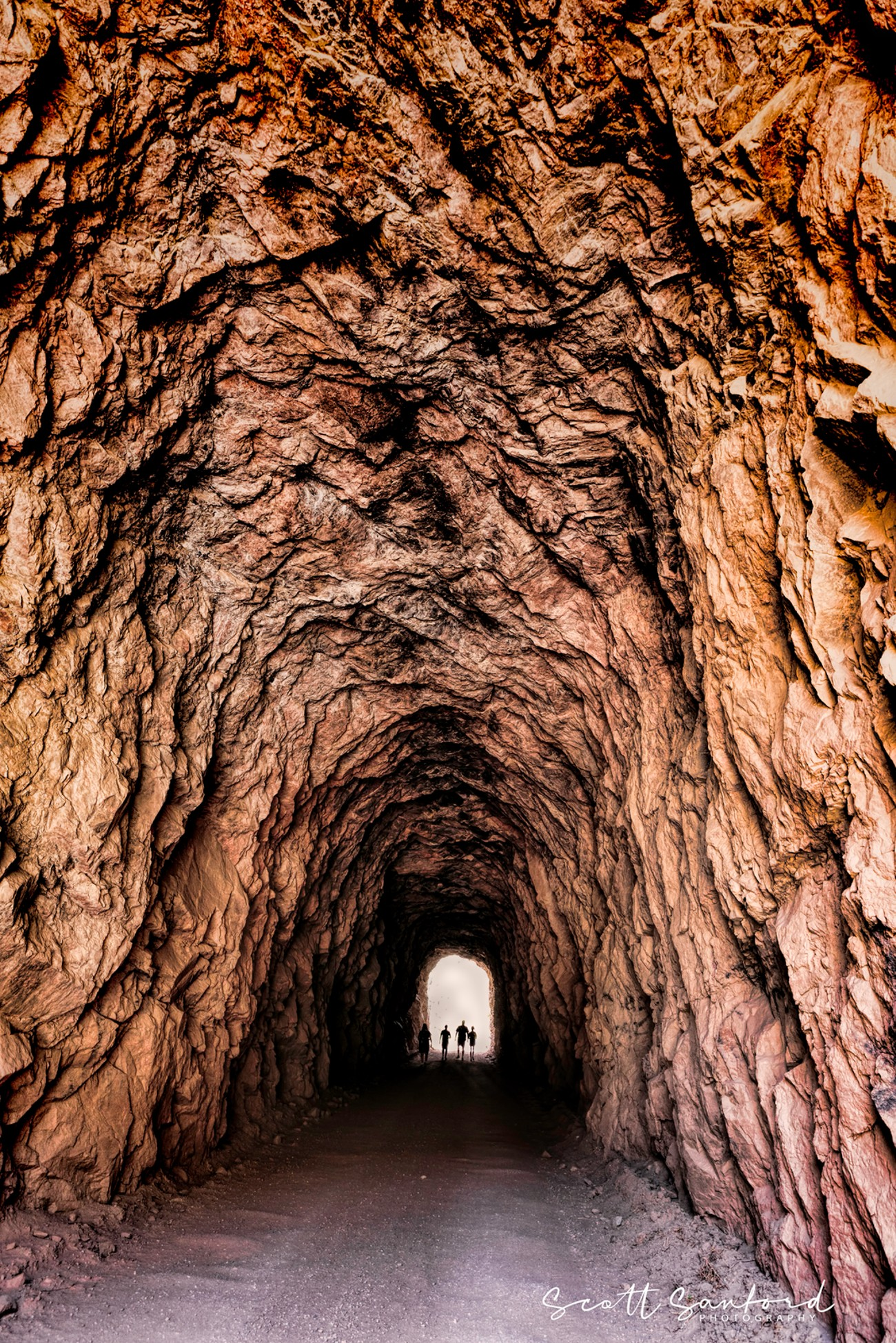 One of the old train tunnels that are part of Phantom Canyon Road