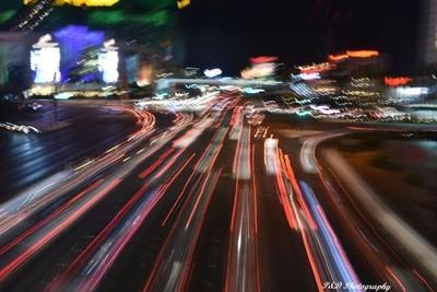 Las Vegas Strip Freehand Long Exposure.