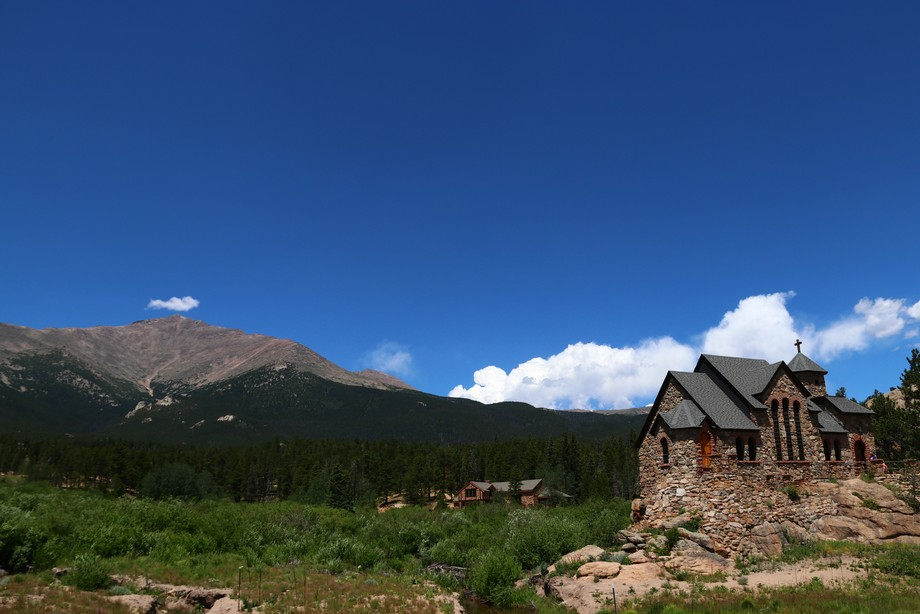We stumbled upon this beautiful church built on a rock in CO