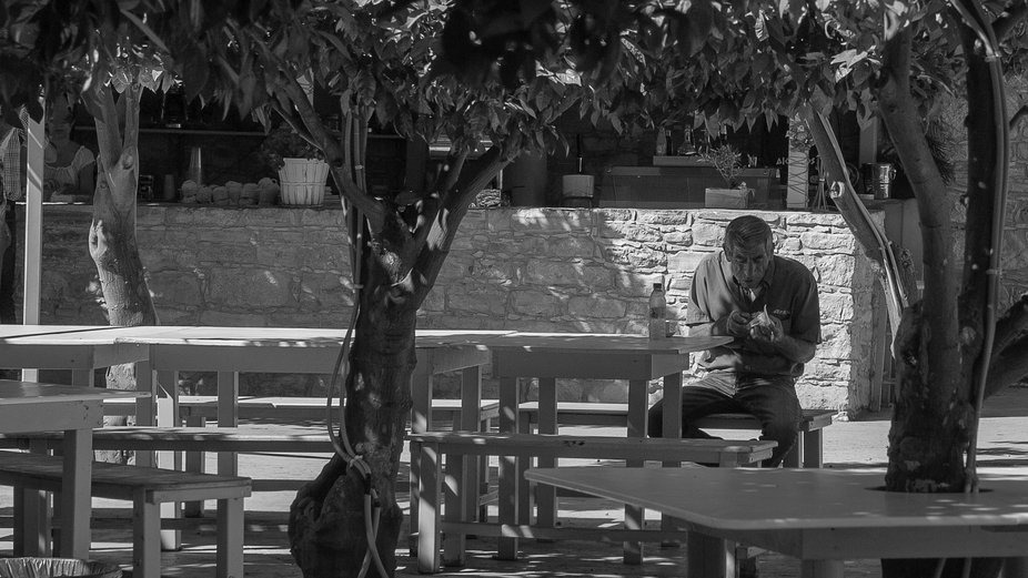 I was on holiday at cyprus and saw this guy having a break