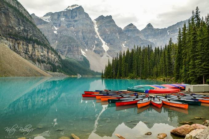 What could be better than canoes, blue water, and mountains?
