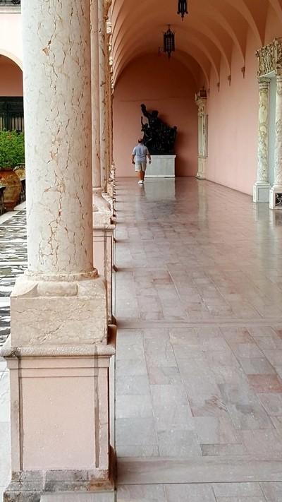 walking down the inner corridor