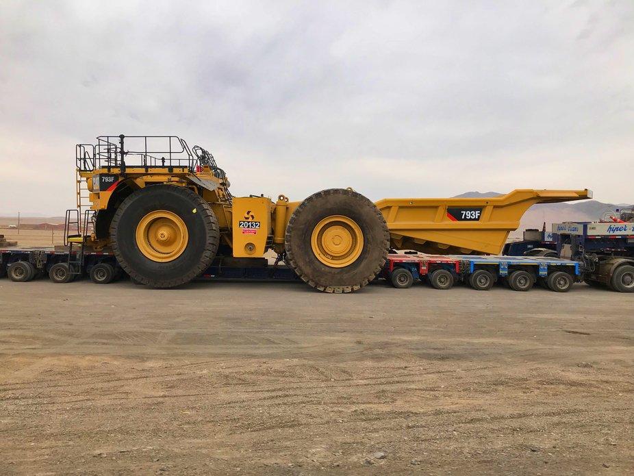 Transporte de Camion Minero