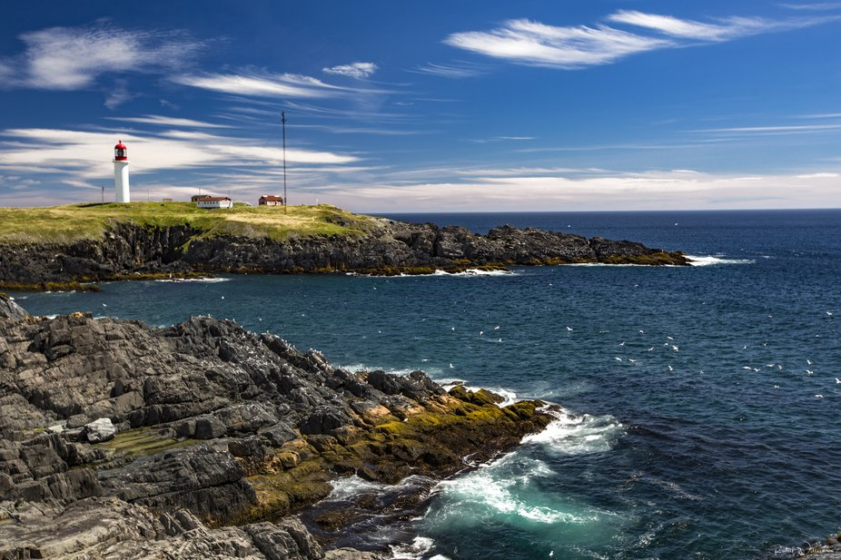 Cape Race lighthouse in Newfoundland is a National Historic site as well as a functioning lightho...