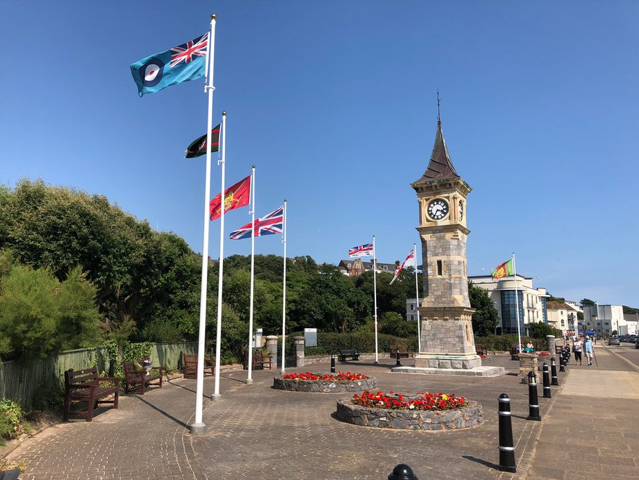 A beautiful July 2018 day in the fantastic resort of Exmouth in Devon, UK, l am loving all the fl...