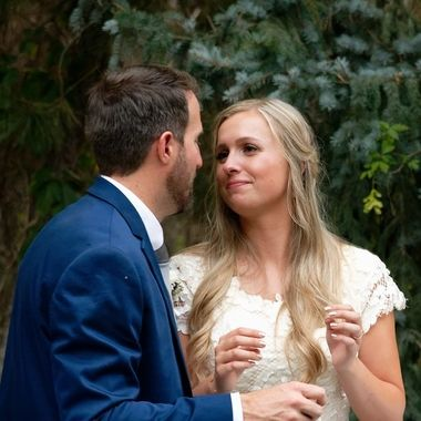 Marlies and Steven on their wedding day.