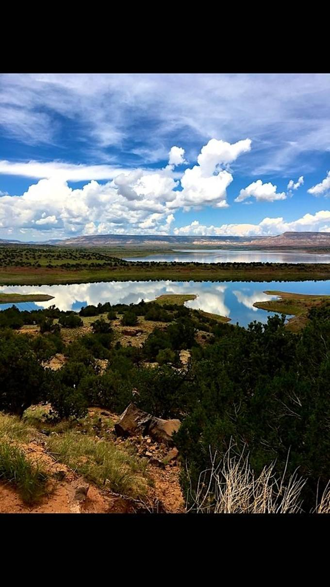Taken on one of my many times leaving town and passing by Lake Abiquiu in NM.
