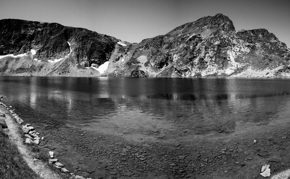 "This is lake ""Bubreka (The Kidney)"" in Rila mountain, Bulgaria"