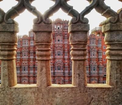 View from Grills - Hawa Mahal