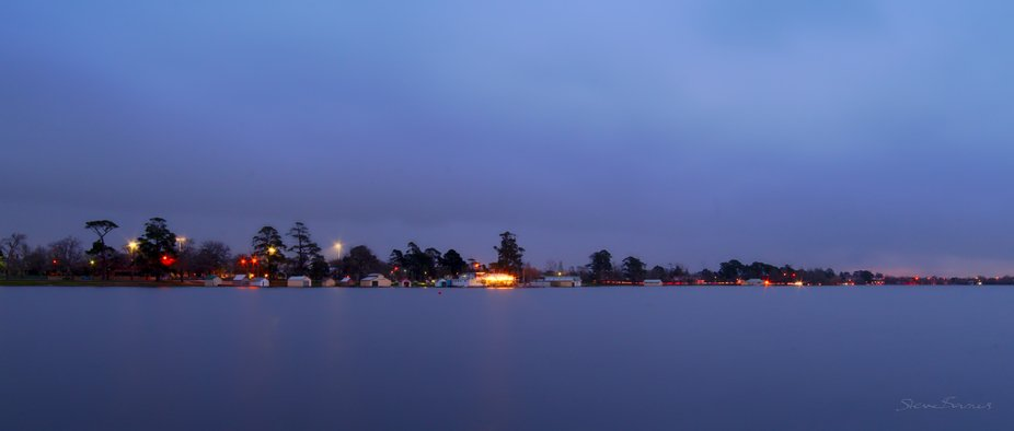 The storm clouds rolled in, and rain came a moment later. Colours intensified as the sun set and the storm started. Another mood of our lovely Lake Wendouree at Ballarat, Australia (ref K1SC6027)
