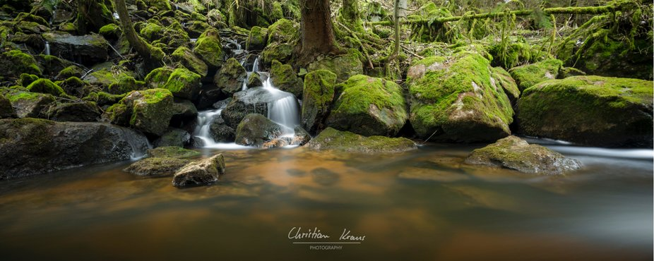 Long exposure at a little stream in the fichtel mountains, Germany.