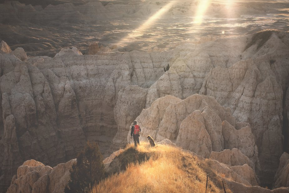 This is a spot in the Badlands of South Dakota that my dog, Marley, and I visit often to escape t...