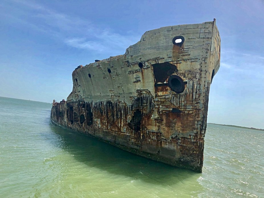 Concrete ship, circa 1870...