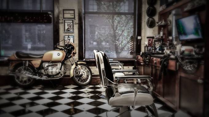 My favorite Barber Shop in town.  by christianredermayer - Monthly Pro Photo Contest Vol 44