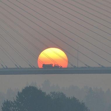 Smoke and a bridge