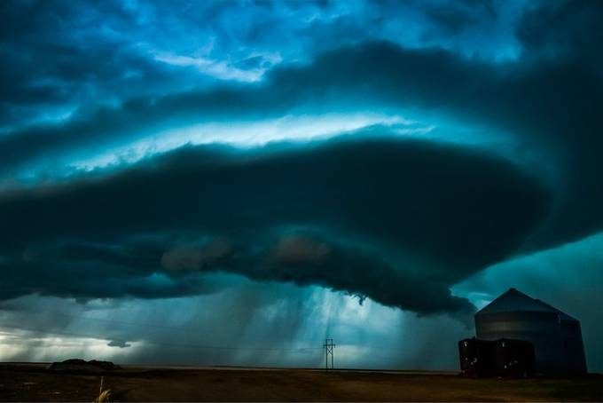 Taken on my storm chasing trip in 2017 by noahjunot - The Blue Color Photo Contest 2018
