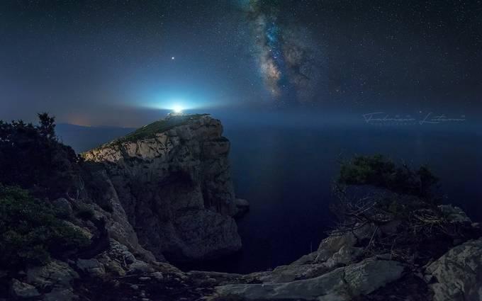 Capo Caccia lighthouse by fabriziolutzoni - Night Wonders Photo Contest