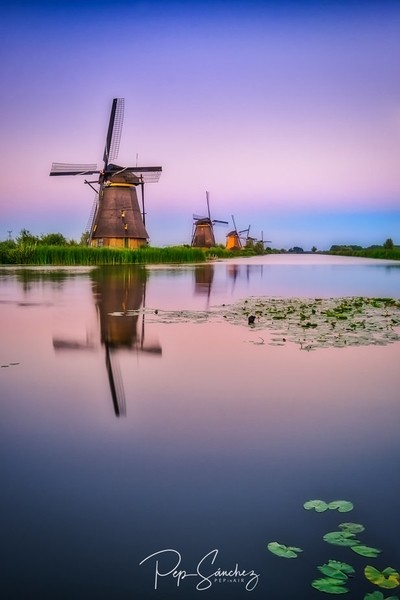 Sunset in the windmills