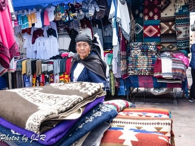 Indigenous Woman at the Otavalo Market