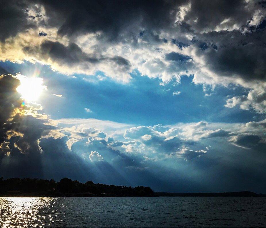 Heavens light shining through the darkness.