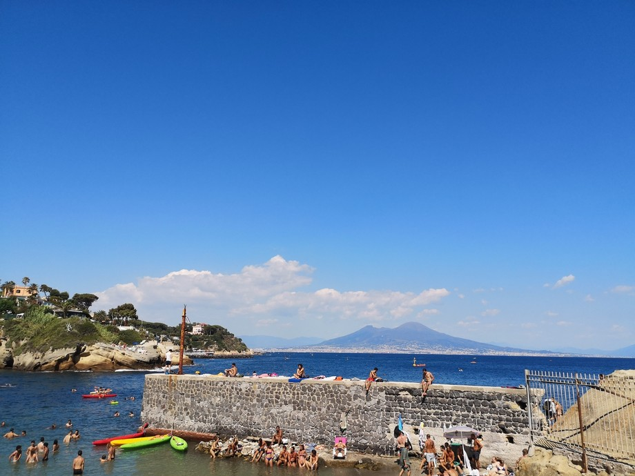 The beautiful blue of Naples!