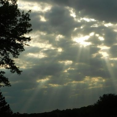 Sun Rays Through the clouds