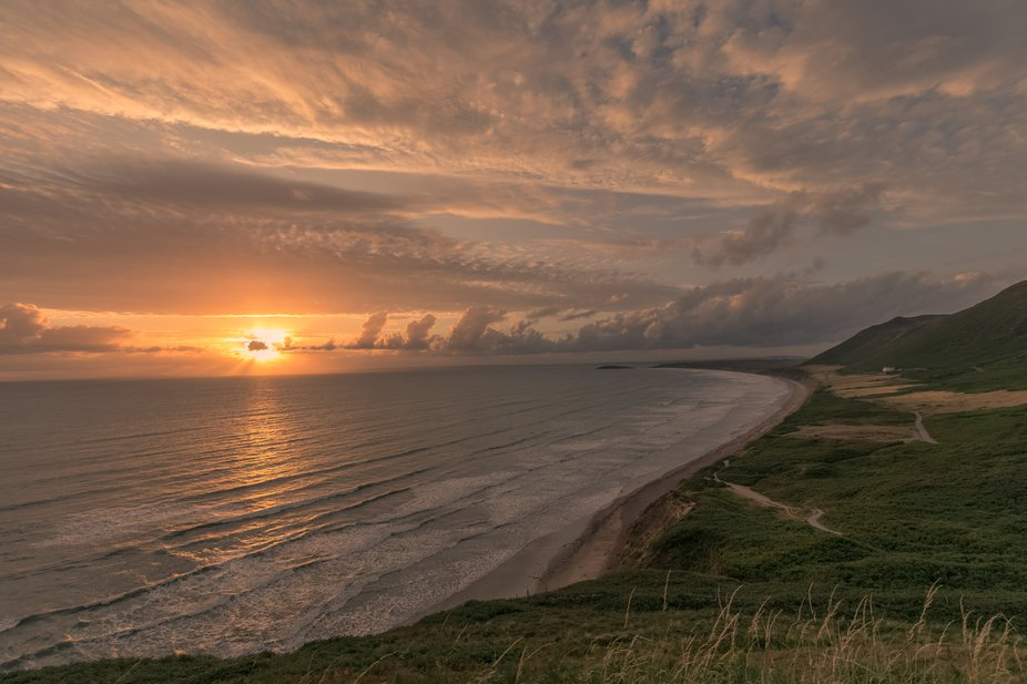 Rhossili Beach, Gower Peninsula, South Wales    I wouldn't miss this for the world and, to my a...