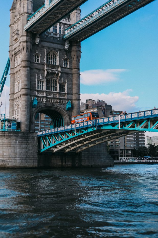 Double Decker Bus on Tower Bridge