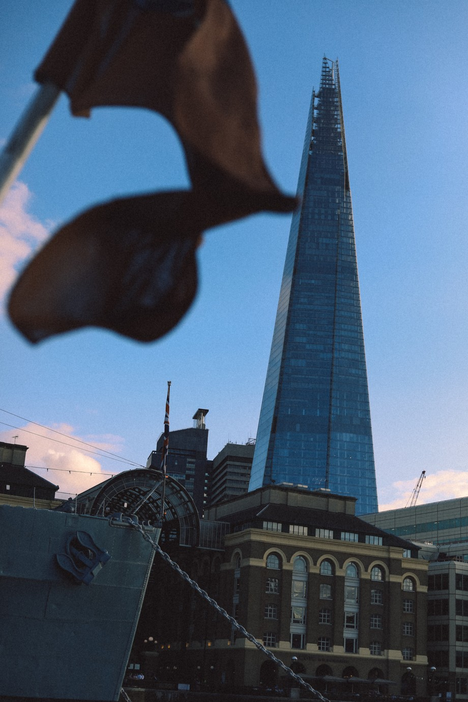 this was while on board a boat, photographing the shard, good timing!