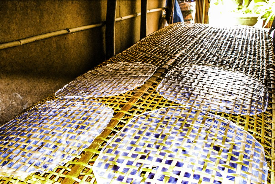 Rice Paper Production.