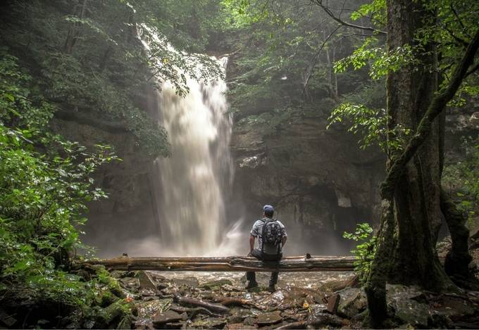 Hidden Creek Falls.  by zachbale - Sitting In Nature Photo Contest