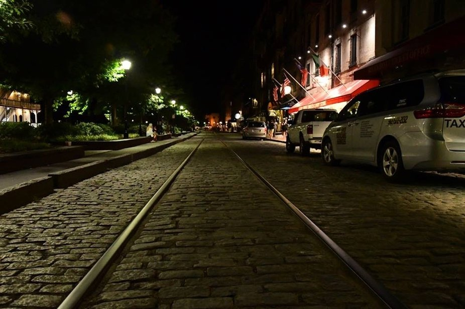 River St., Savannah, GA. This is the railway that the carried the slaves, I Hope you can feel the Emotion.