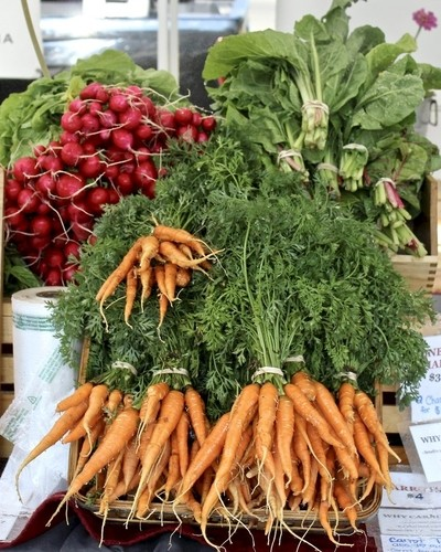 Farmers' Market-Colorful Vegetables