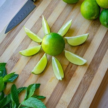 sunny lime prep for making fruity mojito cocktails