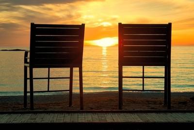 Perfect Lakeside Sunset