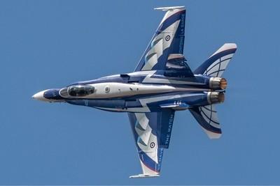 Canadian Air Force McDonnell Douglas CF-18 F-18 Hornet fighter jet.  RIAT  14-7-18