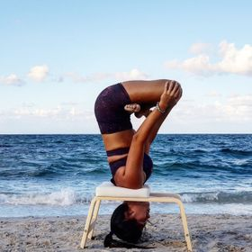 This picture was taken during my yoga practice at the beach using the FeetUp Trainer, just before the sunset