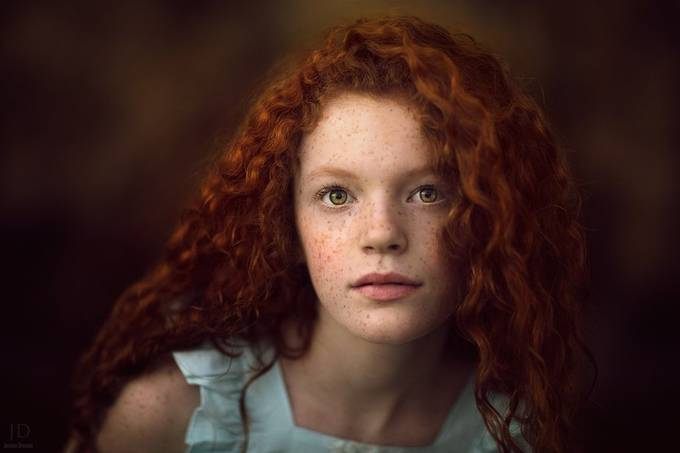 Red Head by JessicaDrossin - Green Eyes Photo Contest