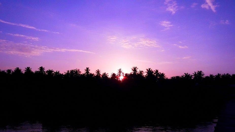 Konaseema sun set , andhrapradesh